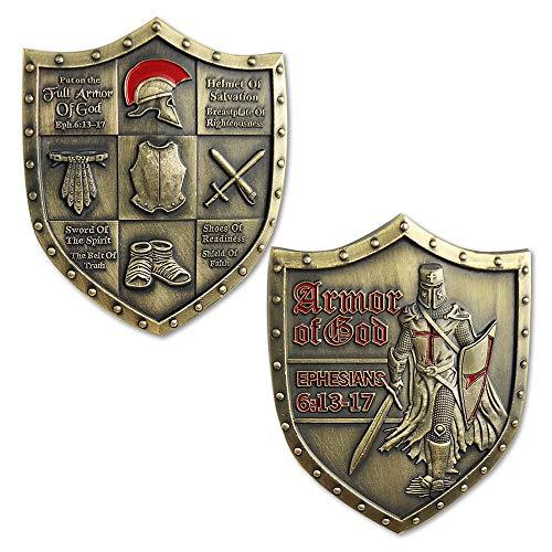 Armor of God EPH 6:13-17 Challenge Coin Shield of Faith