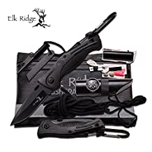 Elk Ridge Set de Survie Couteau de poche multi-Tools Knife Survival Kits # ER-PK4B