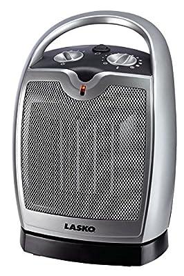 Lasko Oscillating Ceramic Heater Ceramic 1 , 500 W 6 In. X 7 In. X 9.2 In. Cool Touch