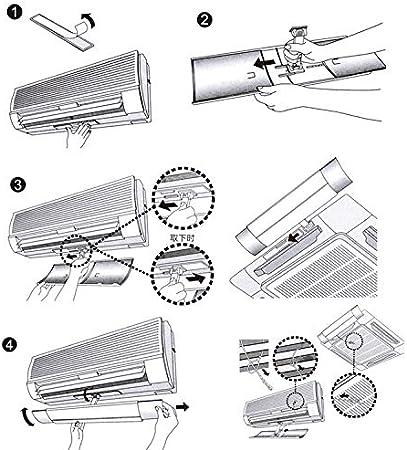 Percetey Klimaanlage Windabweiser,Air Deflector Outlet Air Wing,Universal Retractable Adjustable Deflector Air Conditioning Anti-Drift Air Deflector,Vier Jahreszeiten Universal Deflektor Hood Wind
