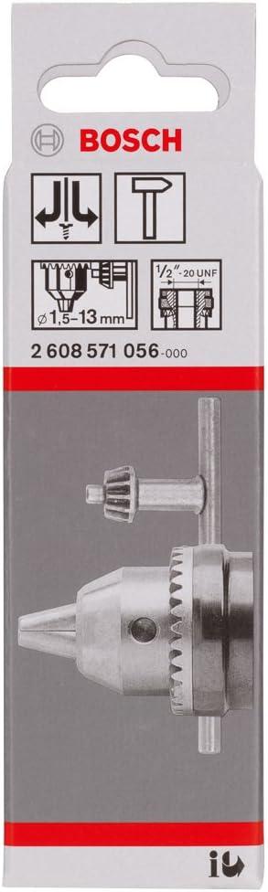 Bosch 2608571056 Mandrin /à cl/é 1,5-13 mm 1//2-20