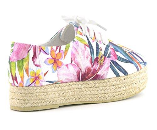 Of Flower Chespa30 Sole Double Espadrille California Donna White Sandali Colors Wht ndOwxXqFd