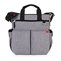 Skip Hop Duo Signature Carry All Travel Diaper Bag Tote with Multipockets, On...
