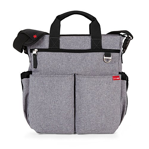 skip-hop-duo-signature-diaper-bag-with-portable-changing-mat-heather-grey
