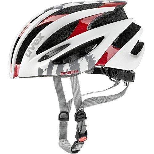 - Uvex 2017 Pheox Race Road Bicycle Helmet - 410209 (White-red - 50-55 m)