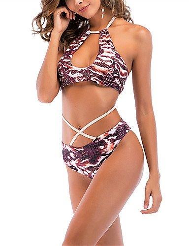 d613bf86dcba Bikini Boho Halter para Mujer de la Marca Bikini - Animal Lace Up ...
