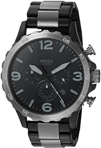 Fossil Men's JR1527 Nate 50mm Chronograph Two-Tone Stainless Steel Watch (Fossil 50mm Mens Watch)