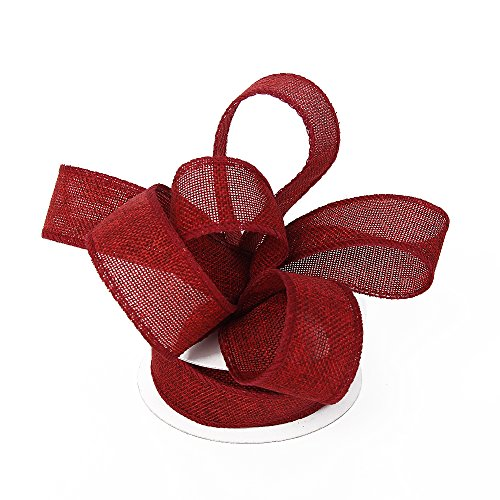 Spool Wine - Burlap Ribbon Perfect for Wedding Home Decoration Gift Wrap Bows Made Handmade Art Crafts 1-1/2 Inch X 10 Yard Spool (Wine Red)