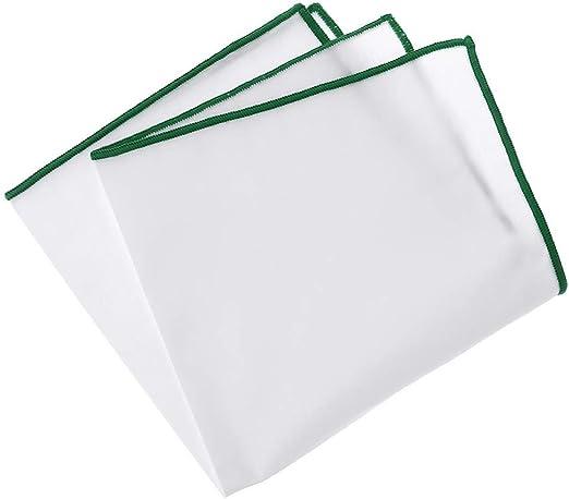 SimpleLife Pañuelo Blanco de Bolsillo de algodón para Hombres con ...