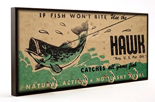 (Brotherhood Vintage Design Hawk Fishing Lures Dog Leash and Key Hanger)