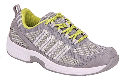 Ortho Mat Stand - Orthofeet Coral Women's Comfortable Plantar Fasciitis Flat Feet Orthopedic Diabetic Bunions Shoes Walking Sneakers Gray