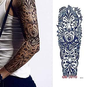 adgkitb 2 Piezas Christian Jesus Full Flower Arm Tatuaje Temporal ...