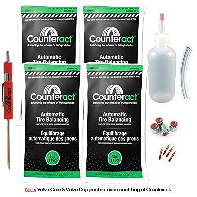 Counteract DIYK-4 Tire Balancing Beads - 4oz DIY Kit (16oz): Automotive