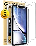 Mkeke Compatible with iPhone XR Screen Protector,Tempered Glass Film for Apple iPhone XR, 3-Pack Clear: more info