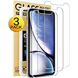 Mkeke Compatible with iPhone XR Screen Protector,Tempered Glass Film for Apple iPhone XR, 3-Pack Clear