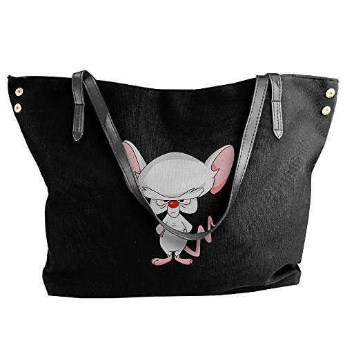 [Pinky And The Brain - Brain Women's Shoulder Bags Casual Handbag Travel Bag Messenger Canvas Bags] (Pinky Brain Costume)