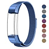 Fitbit Alta HR and Alta Bands Metal, Swees Milanese Stainless Steel Replacement Accessories Metal Small & Large Band for Fitbit Alta HR and Alta, Blue