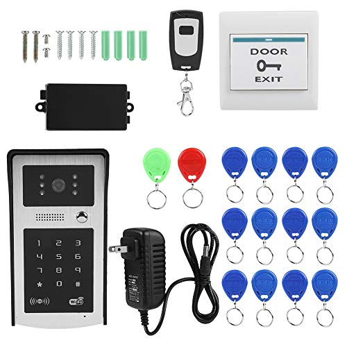 Zetiling Access Control System, Access Control Electric Lock Kit Wireless Keypad WiFi Waterproof Intercom Doorbell Security Accessories for Home Office(US) ()
