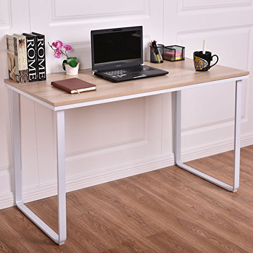 Wood Computer Desk PC Laptop Table Writing Study Workstation Home Office (Acrylic Viva Bar Stool)