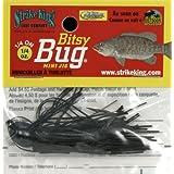 Strike King Bitsy Bug Mini Jig Bait (Black, 0.0625-Ounce)