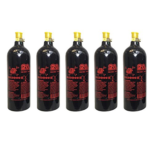 Maddog 20 Oz Aluminum Paintball Tank - 5 Pack for sale  Delivered anywhere in USA