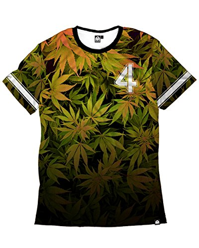 Into The AM Team LIT Weed Premium All Over Print Tee - Designer Outlet Mens
