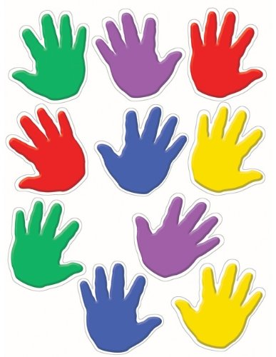 Teacher Created Resources Handprints Accents Packs (4006)
