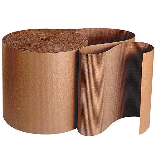 Corrugated Paper Sheets - Aviditi SF12 A Flute Single Face Corrugated Roll, 250' Length x 12
