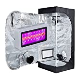 TopoLite Grow Tent Kit 300W Full Spectrum LED Grow Light + 16″x16″x48″ Grow Tent Dark Room Indoor Plants Growing Hydroponic System Kit (LED 300W, 16″X16″X48″) For Sale
