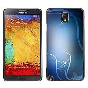 LASTONE PHONE CASE / Slim Protector Hard Shell Cover Case for Samsung Note 3 N9000 N9002 N9005 / Cool White Lines Birds Abstract Clean