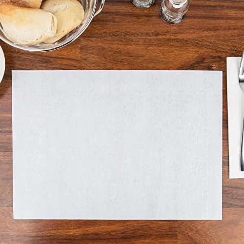 LAMINATED LP128 CPC 10 x 14 in. Cocktail Embossed Dubonnet Placemats44; White - Case of 1000