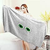 Anhounine Print fancy towels Trippy High-Tech Hardware Circuit Board Backdrop with Eye Forms Digital Picture Customized bath Towels 55''x27.5'' Pearl Black Jade Green