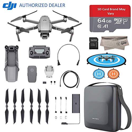 "DJI Mavic 2 Pro Drone Quadcopter with Hasselblad Camera HDR Video UAV Adjustable Aperture 20MP 1"" CMOS Sensor, Dlog-M Color Profile, 64GB Micro SD, Carrying Case, Landing Pad (US Version)"