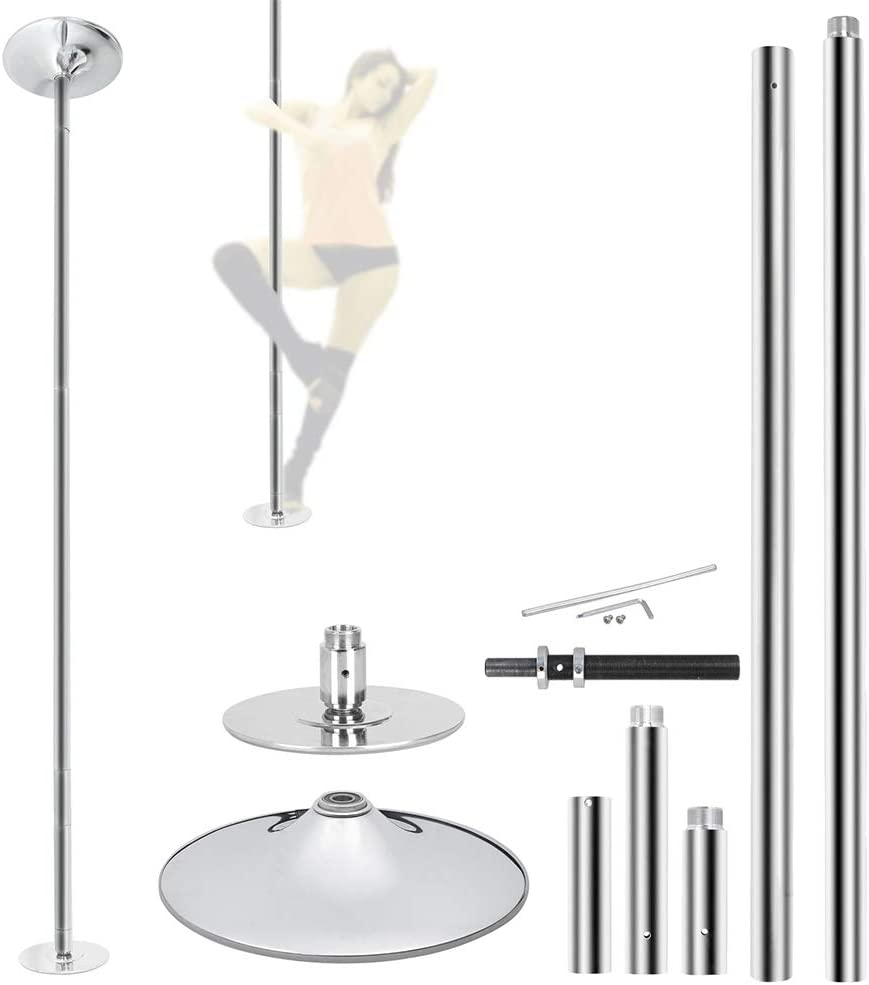 45mm Portable Stainless Steel Dance Pole Spin Static Club Dancing Fitness