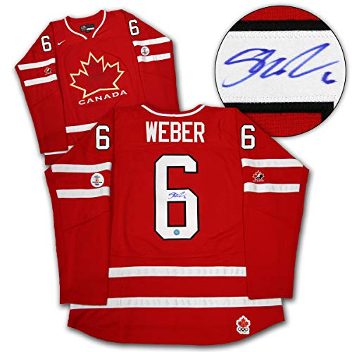 - AJ Sports World Shea Weber Team Canada Autographed 2010 Olympic Hockey Jersey
