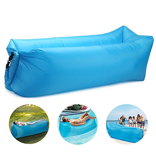 Bry 2017 New Style Inflatable Lounger Air Chair Sofa Bed Lazy Bag Sofa Been Sleeping Sand Beach Lay Bag Couch (Blue)