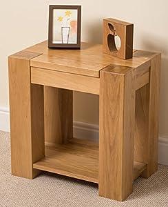 Kuba Solid Oak Lamp Side Table 60 x 40 x 60 cm Amazoncouk