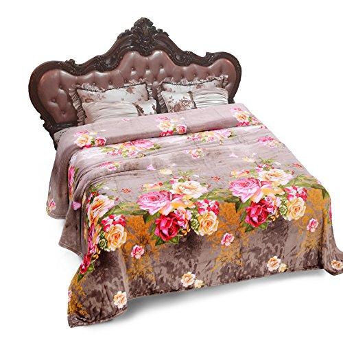 """Jml Plush Blankets, Blankets King Size 90"""" x 102"""" - Soft War"""