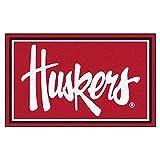 FANMATS 20673 44''x71'' Team Color Nebraska Huskers Rug