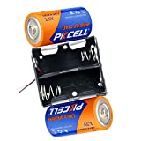 LR14 C Alkaline battery 1.5V+C Cell Battery Holder Case Box With Wire Lead (2-Slot C Battery holder case, 2pcs LR14)