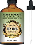 Best Essential Oils for Acne Tea Tree Oil (Australian) 4 Fl.oz. with Glass Dropper 100 % Pure and Natural Therapeutic Essential Oil to Help in Fighting Dandruff, Acne, Toenail Fungus, Yeast Infections, Cold Sores & More...