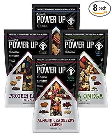 Power Up paquete de variedad de mezclas,8 bolsas de ...