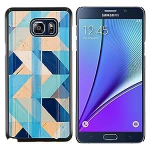 Stuss Case / Funda Carcasa protectora - Modelo azul del trullo Chevron amarillo Limpio - Samsung Galaxy Note 5