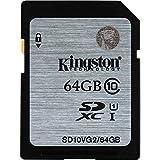 Kingston 64GB Class 10 UHS-I SDHC Memory Card (SD10VG2/64GBFR)