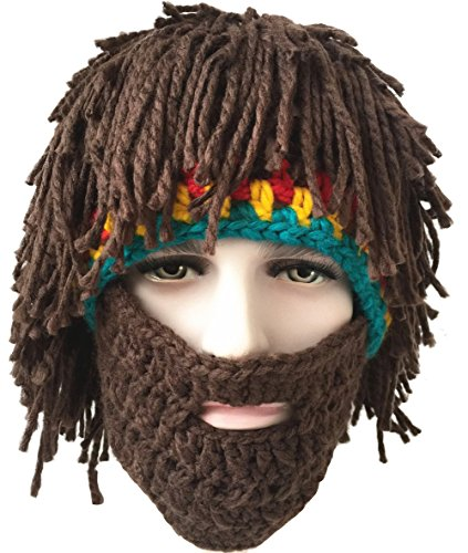 Cool Costumes 2016 (SeptCity Handmade Bearded Face Mask Beanie Hat Costume Party Cap(Cool Man) (Cool Man))