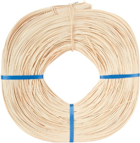 Round Reed #2 1.75mm 1lb Coil-Approximately 1,100' by Commonwealth Basket