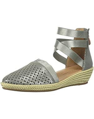 Women's Noa-Beth Closed Toe Espadrille Perf Wedge Sandal