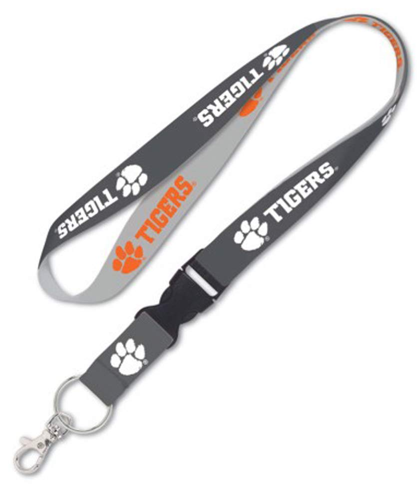 Charcoal Edition WinCraft NCAA Clemson Tigers Lanyard with Detachable end