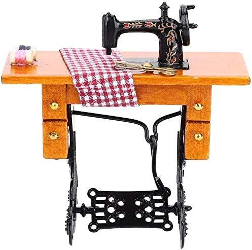 SQINAA Dollhouse máquina de Coser, 01:12 Dollhouse Miniatura ...
