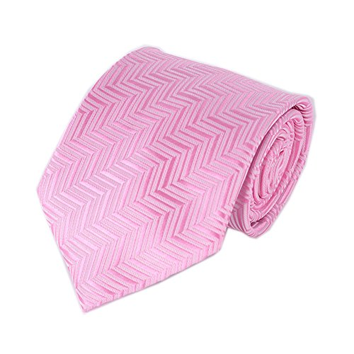 Mens Blush Pink Herringbone Ties Luxury Party Fashion Line Microfiber (Luxury Herringbone Necktie)